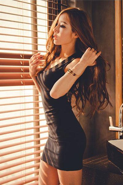 black silk sexy lingerie women sexiest fashion beauty 1