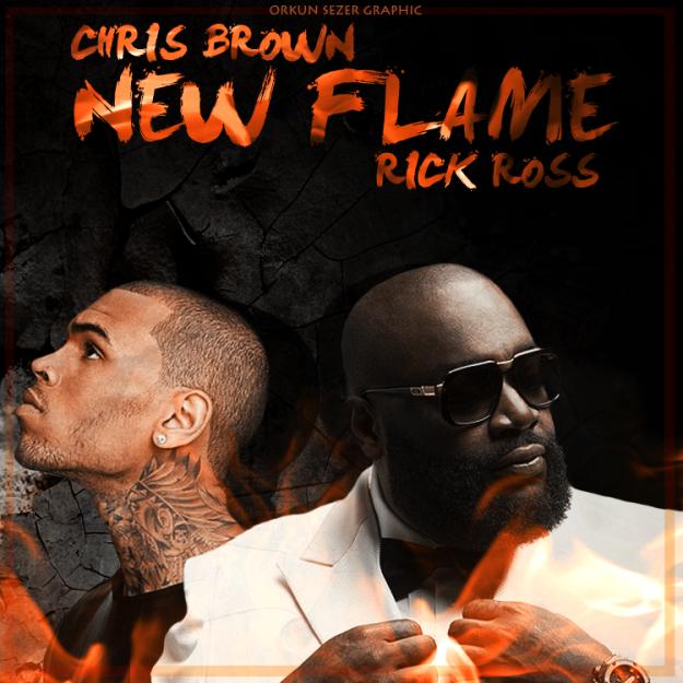 chris brown - new flame