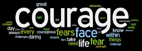 courage wordle word poetry art