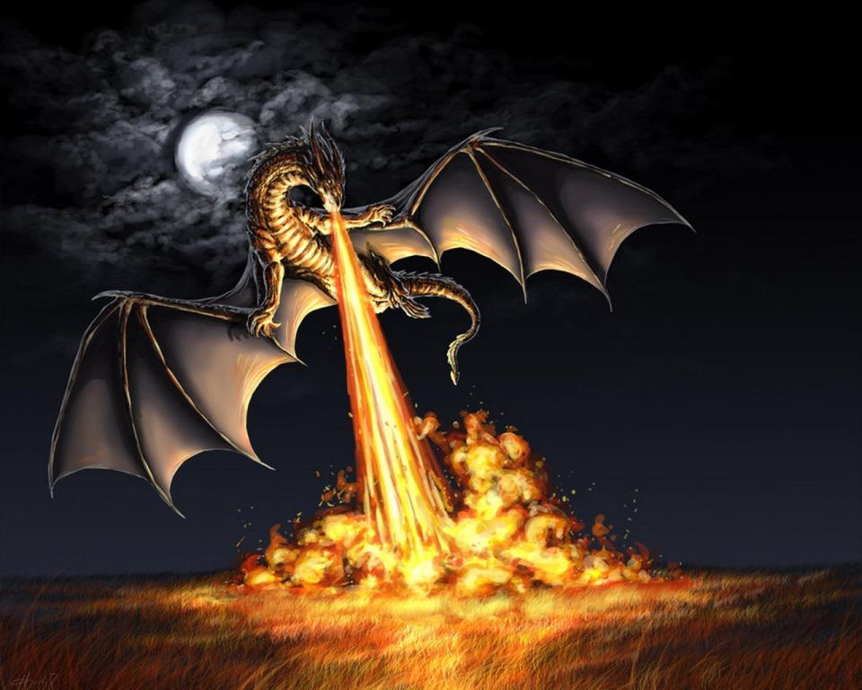 Dragon Fireball Attack