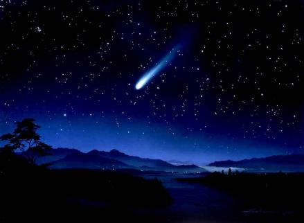 shooting star sky