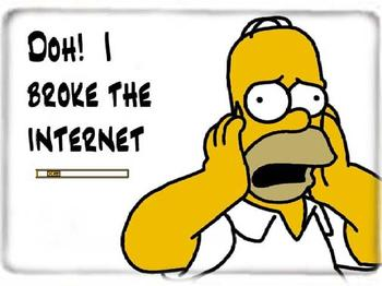broke the internet