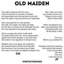 Poetic Tongues - Chester Maynes - Jixi Fox - Poetry Art - Page 4 - Old Maiden