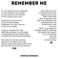 Poetic Tongues - Chester Maynes - Jixi Fox - Poetry Art - Page 5 - Remember Me
